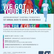 Javerbaum Wurgaft Charitable Foundation 5K Run flyer